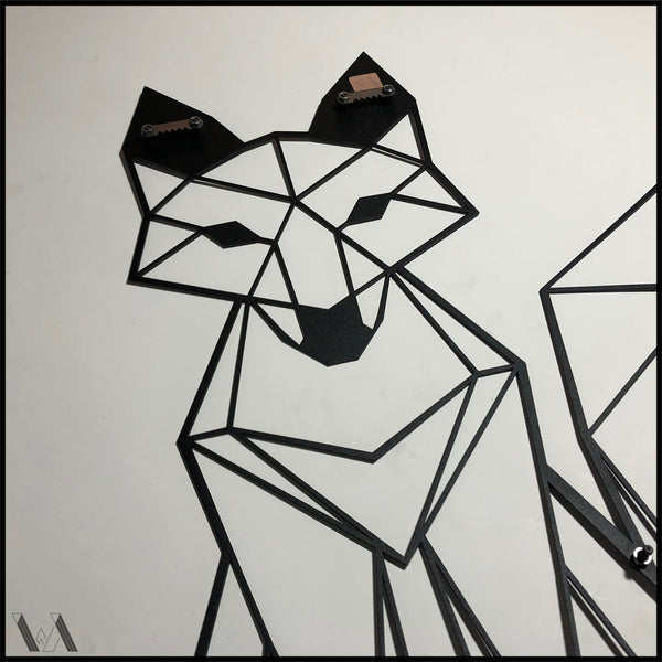 Fox - Black Metal Wall Art