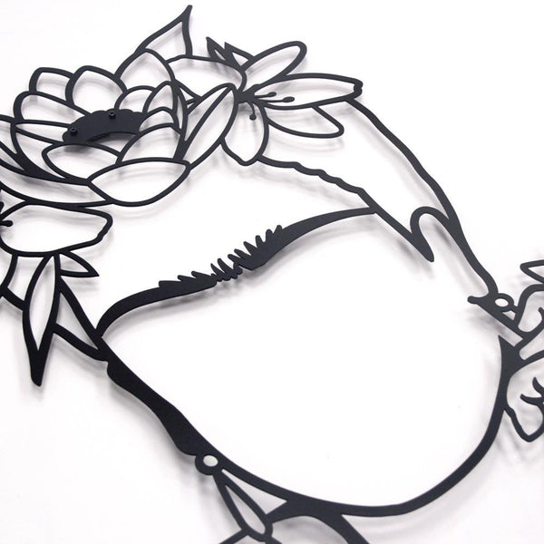 Frida Metal Wall Art - Black Metal Wall Art