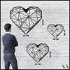 Heart - Black Metal Wall Art