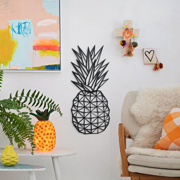 Pineapple Metal Wall Art - Black Metal Wall Art
