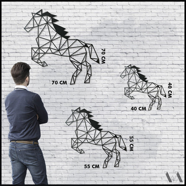 Horse v.1 - Black Metal Wall Art