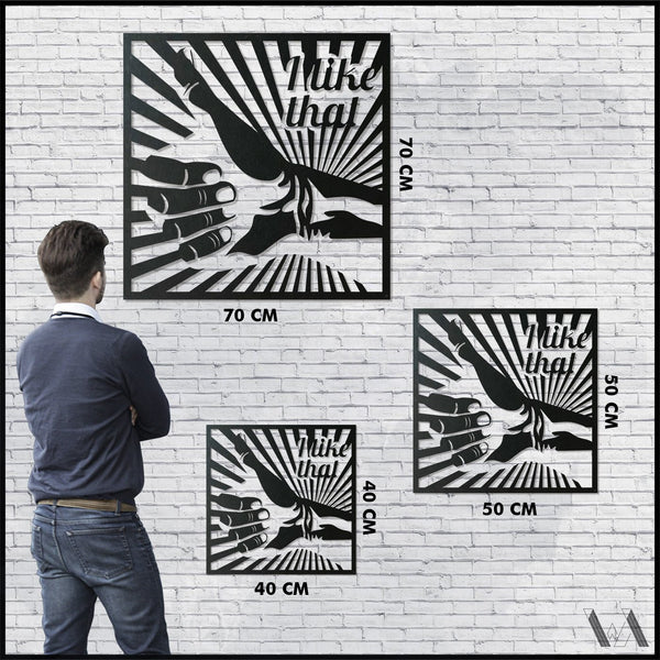 I Like That - Black Metal Wall Art