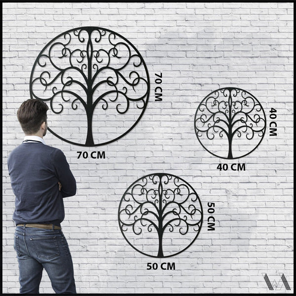 Life Tree v.2 - Black Metal Wall Art