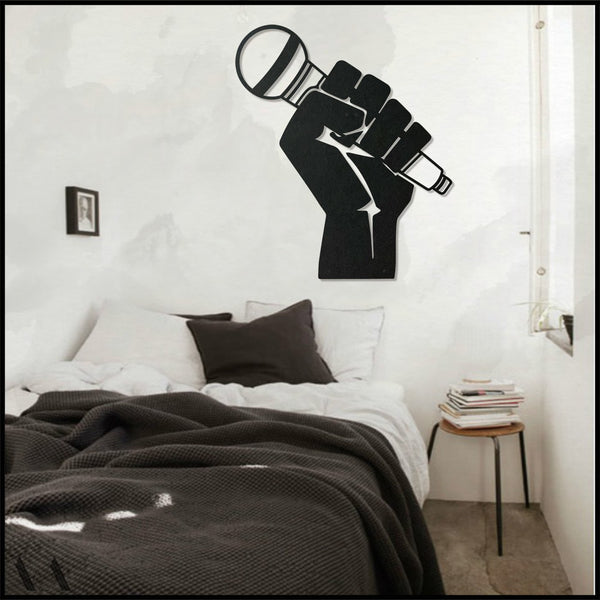 Mic - Black Metal Wall Art