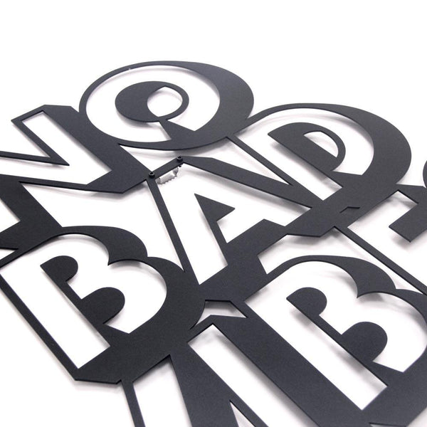 Bad Vibes Metal Wall Art - Black Metal Wall Art