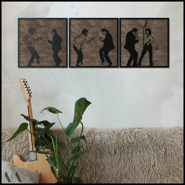 Pulp Fiction v.1 w/Base - Black Metal Wall Art