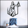 Themis v.1 - Black Metal Wall Art