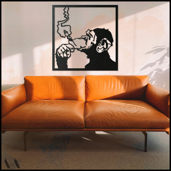 Welter's Monkey - Black Metal Wall Art