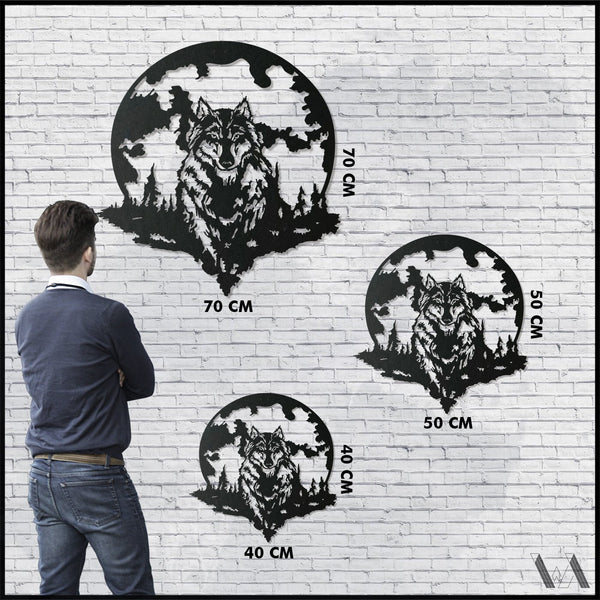 Wolf v.4 - Black Metal Wall Art