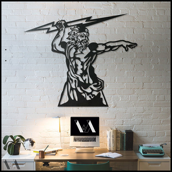 Zeus - Black Metal Wall Art