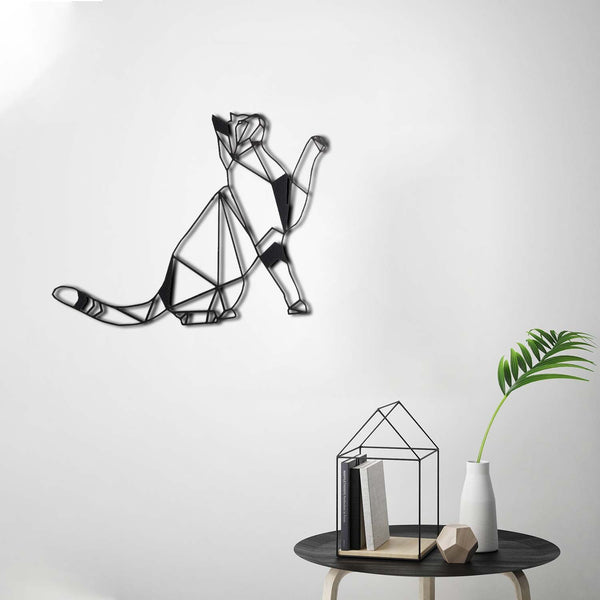 CAT - Black Metal Wall Art