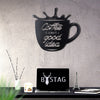 COFFEE GLASS - Black Metal Wall Art