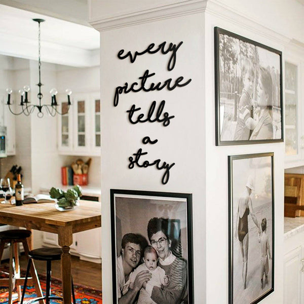 Every Picture Tells a Story Metal Wall Art - Black Metal Wall Art