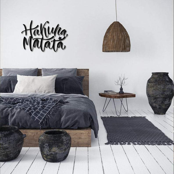 Hakuna Matata  Metal Wall Art - Black Metal Wall Art