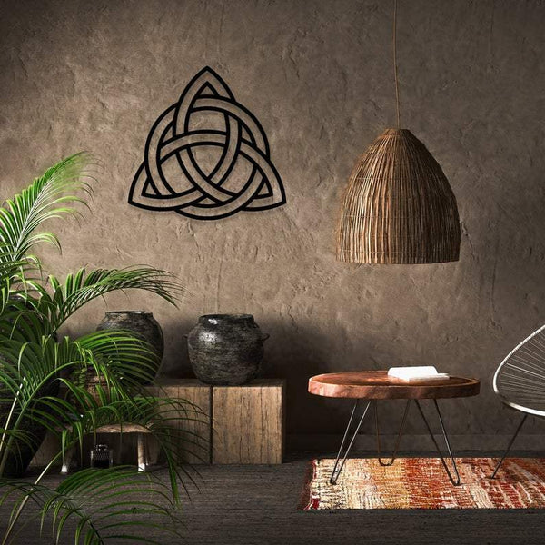 Triquetra  Metal Wall Art - Black Metal Wall Art