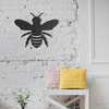 Bee  Metal Wall Art - Black Metal Wall Art