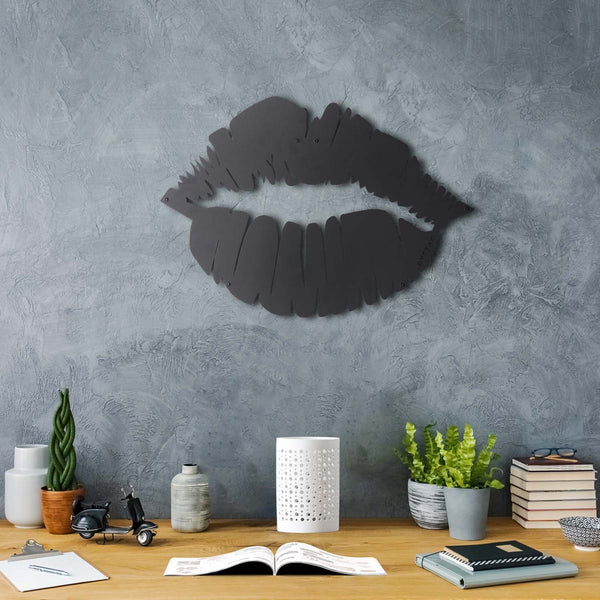 LIP - Black Metal Wall Art