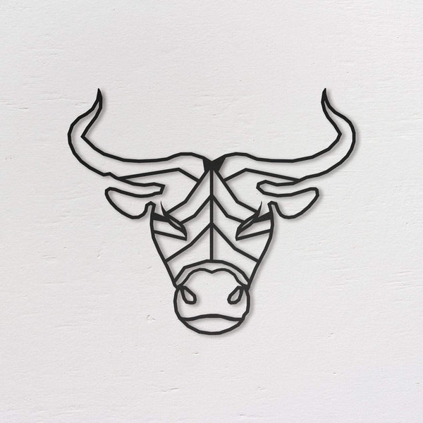 Taurus  Metal Wall Art - Black Metal Wall Art
