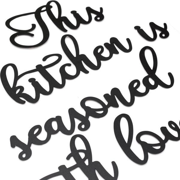 This Kitchen Is Seasoned With Love Metal Wall Art - Black Metal Wall Art
