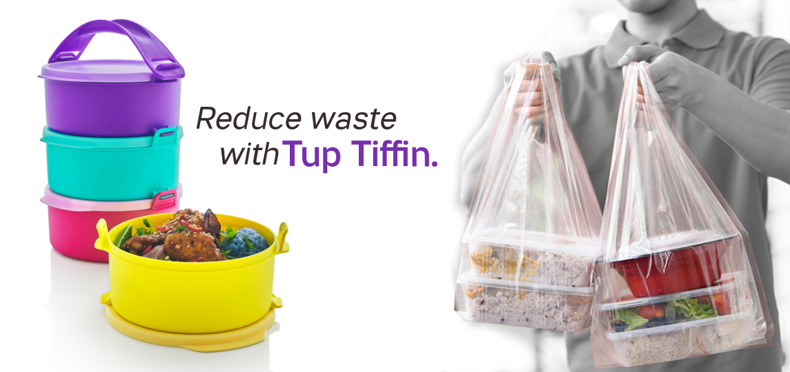 Reduse waste with Tupperware Tup Tiffin
