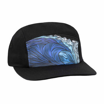 Blue Wave 5 Panel Hat