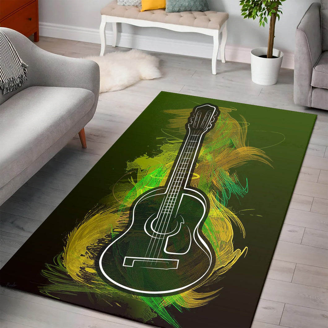 Acoustic Craze  Music Rug,  Living room and bedroom Rug,  Halloween Gift