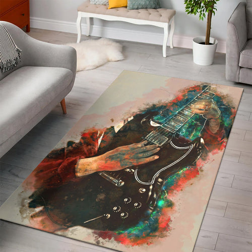 Angus Young Guitar  Rug,  Kitchen Rug,  Family Decor