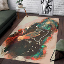 Load image into Gallery viewer, Angus Young Guitar  Rug,  Kitchen Rug,  Family Decor