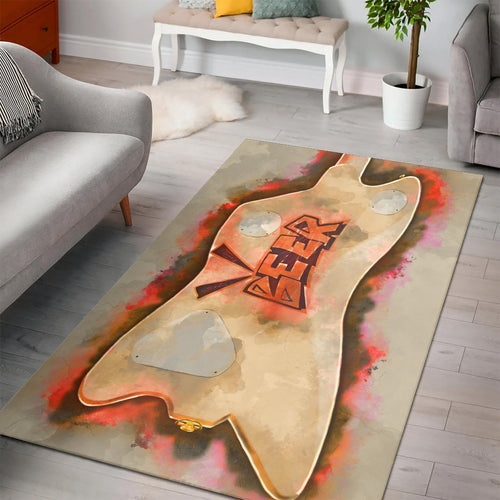 Billy Gibbons Guitar Back  Printing Instrument Rug,  Bedroom,  Floor Decor