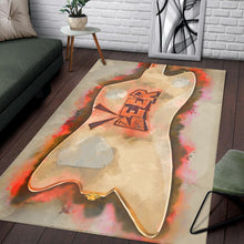 Load image into Gallery viewer, Billy Gibbons Guitar Back  Printing Instrument Rug,  Bedroom,  Floor Decor