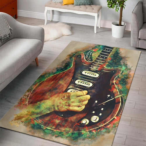 Brian May Electric Guitar  Rug,  Gift for fans,  Floor Decor