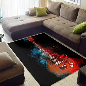 Brian May Guitar  Instrument Area Rug, Living Room Rug,  Family Decor