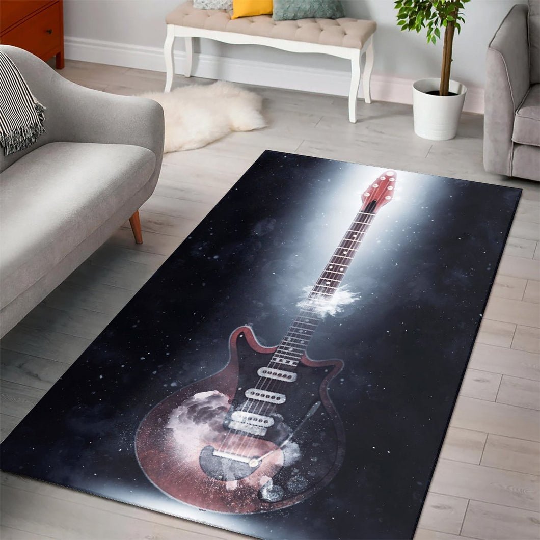 Brian May Guitar  Music Rug,  Living room and bedroom Rug,  Halloween Gift