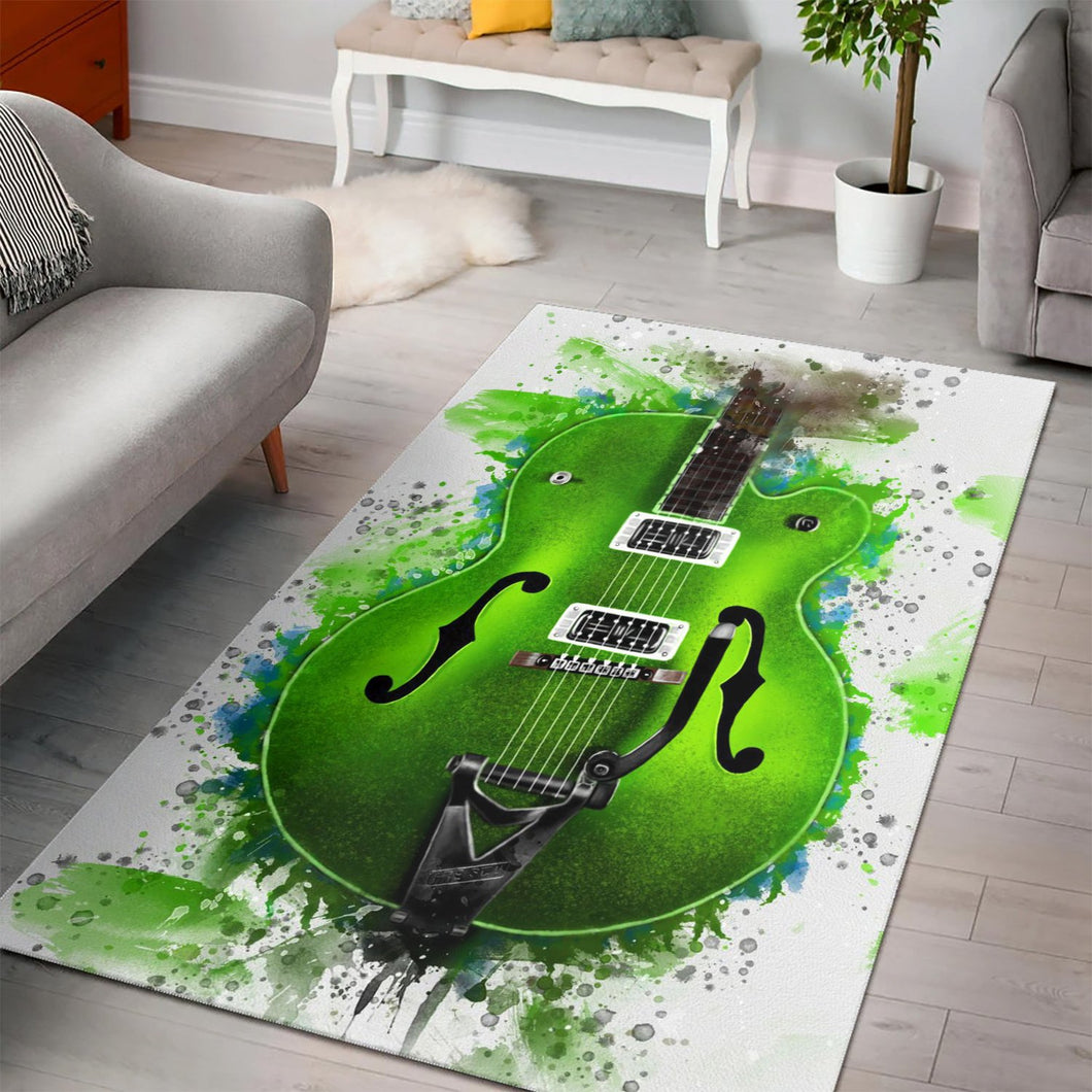 Brian Setzer Guitar  Music Rug,  Gift for fans,  Family Decor