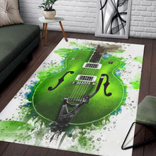 Load image into Gallery viewer, Brian Setzer Guitar  Music Rug,  Gift for fans,  Family Decor