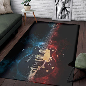 Chuck Berry Guitar  Instrument Area Rug,  Bedroom,  Halloween Gift