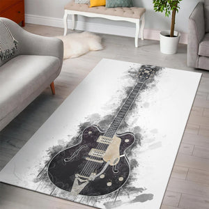 Chuck Berry Guitar  Instrument Area Rug,  Living room and bedroom Rug,  Floor Decor