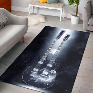 Chuck Berry Guitar  Printing Instrument Rug,  Gift for fans,  Christmas Gift
