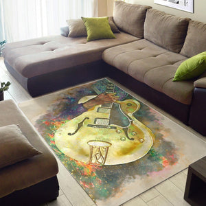 Chuck Berry Guitar  Rug,  Gift for fans,  Family Decor