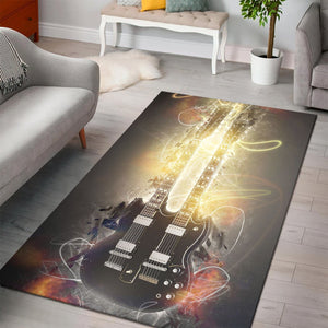 Chuck Berry Guitar  Rug,  Gift for fans,  Halloween Gift