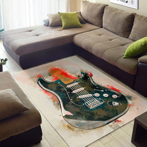 David Gilmour Guitar  Printing Instrument Rug,  Living room and bedroom Rug,  Halloween Gift