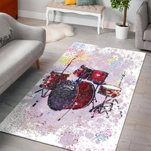 Load image into Gallery viewer, Drum  Music Rug,  Living room and bedroom Rug,  Halloween Gift