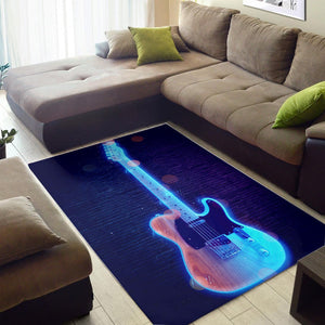 Duane Allman Guitar  Area Rugs, Living Room Rug, Home Decor