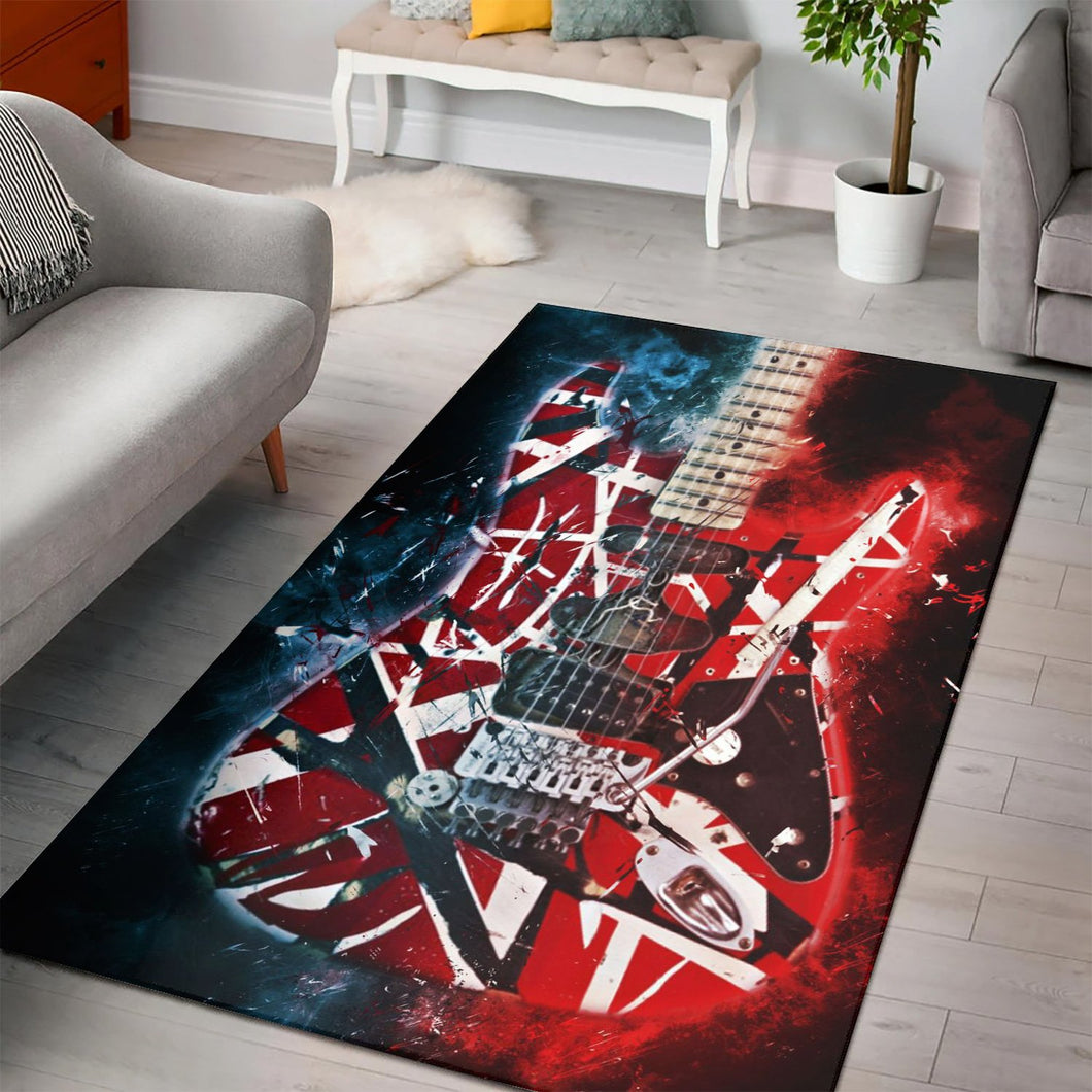 Eddie Van Halen Guitar  Printing Instrument Rug,  Kitchen Rug, Home Decor