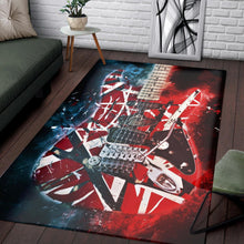 Load image into Gallery viewer, Eddie Van Halen Guitar  Printing Instrument Rug,  Kitchen Rug, Home Decor