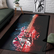 Load image into Gallery viewer, Eddie Van Halen Guitar  Rug,  Gift for fans,  Christmas Gift