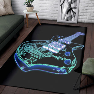 Electric Guitar  Rug, Living Room Rug,  Halloween Gift
