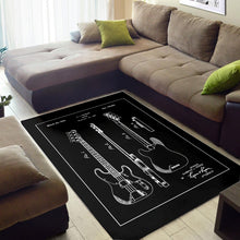 Load image into Gallery viewer, Fender Bass  Printing Instrument Rug,  Kitchen Rug,  Christmas Gift
