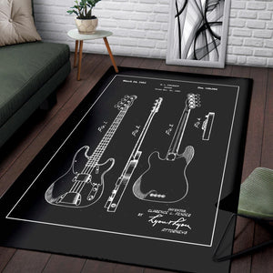 Fender Bass  Printing Instrument Rug,  Kitchen Rug,  Christmas Gift