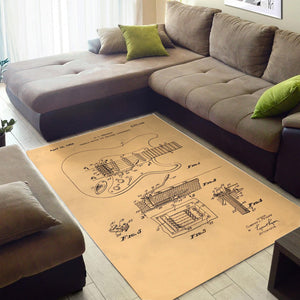 Fender Tremolo Device  Rug,  Living room and bedroom Rug,  Family Decor